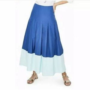Boden Colorblock A Line Maxi Skirt Blue Colorblock